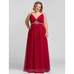 Australia Formal Dress Evening Gowns Prom Gowns Military Ball Dress Ruby Plus Sizes Dresses Petite A-line V-neck Long Floor-length Chiffon