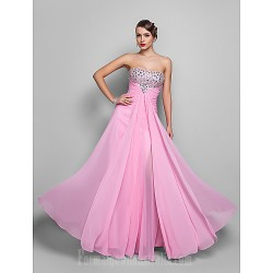 Australia Formal Dress Evening Gowns Prom Gowns Military Ball Dress Candy Pink Plus Sizes Dresses Petite A-line Strapless Long Floor-length Chiffon