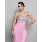 Australia Formal Evening Dress Prom Gowns Military Ball Dress Candy Pink Plus Sizes Dresses Petite A-line Strapless Long Floor-length Chiffon Formal Dress Australia