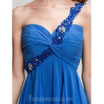 Australia Formal Dresses Cocktail Dress Party Dress Royal Blue Plus Sizes Dresses Petite A-line Sexy One Shoulder Asymmetrical Georgette Formal Dress Australia