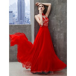 Australia Formal Dress Evening Gowns Ruby A Line High Neck Long Floor Length Chiffon