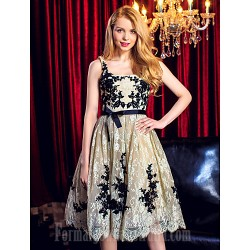 Australia Cocktail Party Dress Ball Gown Scoop Short Knee-length Lace