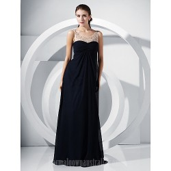 Australia Formal Dress Evening Gowns Military Ball Dress Dark Navy Plus Sizes Dresses Petite A-line Princess Scoop Long Floor-length Chiffon