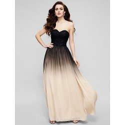 Australia Formal Dress Evening Gowns Multi Color A Line Sweetheart Long Floor Length Chiffon Lace