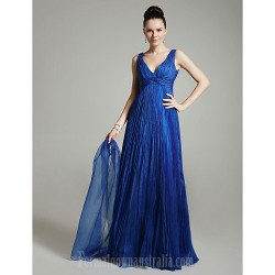 Prom Gowns Military Ball Australia Formal Dress Evening Gowns Royal Blue Plus Sizes Dresses Petite A-line Princess V-neck Long Floor-length Organza