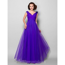 A Line Plus Sizes Dresses Petite Mother Of The Bride Dress Regency Long Floor Length Sleeveless Tulle