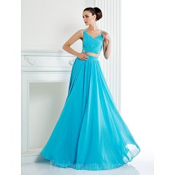 Australia Formal Evening Dress Pool Plus Sizes Dresses Petite A-line Straps Long Floor-length Chiffon