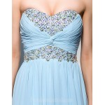 Australia Formal Dress Evening Gowns Sky Blue Plus Sizes Dresses Petite A-line Sweetheart Long Floor-length Georgette Formal Dress Australia