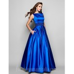 Australia Formal Dress Evening Gowns Prom Gowns Military Ball Dress Royal Blue Plus Sizes Dresses Petite Ball Gown A-line Bateau Long Floor-length Satin Formal Dress Australia
