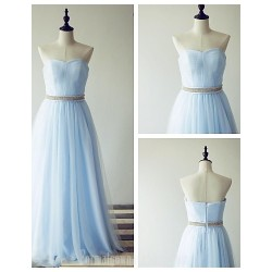 Australia Formal Dress Evening Gowns Pool A Line Sweetheart Long Floor Length Tulle Dress