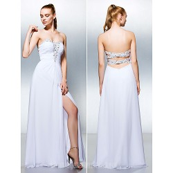 Australia Formal Dress Evening Gowns White Plus Sizes Dresses Petite A-line Sweetheart Long Floor-length Georgette