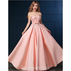Australia Formal Dress Evening Gowns Blushing Pink A Line Sweetheart Long Floor Length Satin
