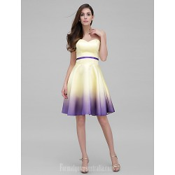 Australia Formal Dresses Cocktail Dress Party Dress Multi-color A-line Sweetheart Short Knee-length Satin