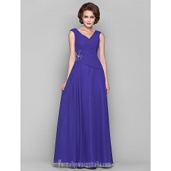 A Line Plus Sizes Dresses Petite Mother Of The Bride Dress Regency Long Floor Length Sleeveless Chiffon