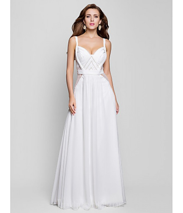 Australia Formal Dress Evening Gowns Military Ball Dress Ivory Plus Sizes Dresses Petite A-line Princess V-neck Long Floor-length Chiffon Formal Dress Australia