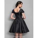 Australia Cocktail Party Dress Black Plus Sizes Dresses Petite A-line Princess Bateau Short Knee-length Taffeta Formal Dress Australia