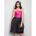 Dress Fuchsia Plus Sizes Dresses Petite A-line Princess Strapless Short Knee-length Satin Formal Dress Australia