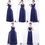 Mix Match Dresses Long Floor-length Chiffon 9 Styles Bridesmaid Dresses Formal Dress Australia