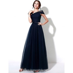 Australia Formal Dress Evening Gowns Dark Navy Plus Sizes Dresses Petite A Line Off The Shoulder Long Floor Length