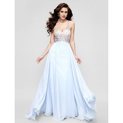 Australia Formal Evening Dress Sky Blue Plus Sizes Dresses Petite A-line Sexy One Shoulder Long Floor-length Chiffon