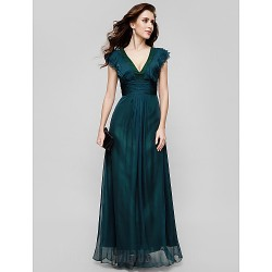 Australia Formal Evening Dress Military Ball Dress Jade Plus Sizes Dresses Petite A-line V-neck Long Floor-length Chiffon