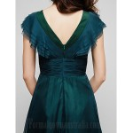 Australia Formal Dress Evening Gowns Military Ball Dress Jade Plus Sizes Dresses Petite A-line V-neck Long Floor-length Chiffon Formal Dress Australia