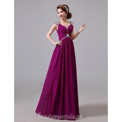 Australia Formal Dresses Cocktail Dress Party Dress Australia Formal Dress Evening Gowns Grape Jewel Long Floor Length Chiffon