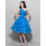 Australia Formal Dresses Cocktail Dress Party Dress Prom Dress Ocean Blue Plus Sizes Dresses Petite A-line Sexy One Shoulder Short Knee-length Tulle Formal Dress Australia