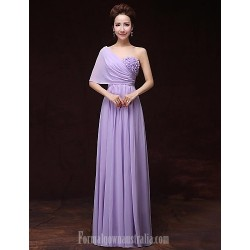 Australia Formal Evening Dress Lavender A-line Sexy One Shoulder Long Floor-length Satin