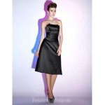 Australia Cocktail Party Dresses Holiday Dress Black Plus Sizes Dresses Petite A-line Strapless Short Knee-length Satin Formal Dress Australia