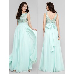 Australia Formal Dress Evening Gowns Prom Gowns Military Ball Dress Plus Sizes Dresses Petite A-line Scoop Long Floor-length Chiffon