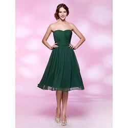 Australia Formal Dresses Cocktail Dress Party Dress Holiday Wedding Party Dress Dark Green Plus Sizes Dresses Petite A-line Princess Strapless Sweetheart Short Knee-length