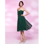 Australia Formal Dresses Cocktail Dress Party Dress Holiday Wedding Party Dress Dark Green Plus Sizes Dresses Petite A-line Princess Strapless Sweetheart Short Knee-length Formal Dress Australia
