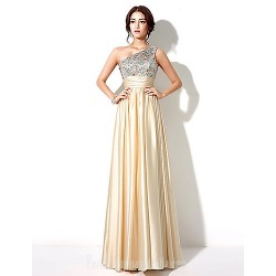 Australia Formal Dress Evening Gowns Gold Plus Sizes Dresses Petite A Line Sexy One Shoulder Long Floor Length
