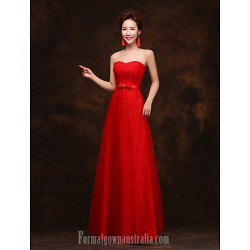 Australia Formal Dress Evening Gowns Ruby Royal Blue Plus Sizes Dresses A-line Strapless Long Floor-length Lace Dress