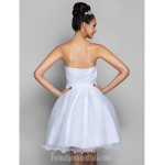 Australia Cocktail Party Dresses Prom Gowns Holiday Dress White Plus Sizes Dresses Petite A-line Princess Sweetheart Short Knee-length Organza Formal Dress Australia
