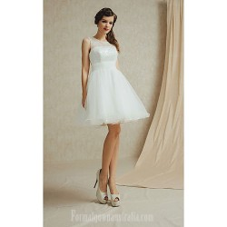 Short Knee-length Satin Lace Bridesmaid Dress Sage White Champagne Sky Blue Purple A-line Bateau