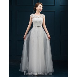 Australia Formal Dress Evening Gowns White Plus Sizes Dresses A-line Jewel Long Floor-length Lace Dress