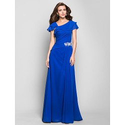 Australia Formal Evening Dress Military Ball Dress Ocean Blue Plus Sizes Dresses Petite A-line Square Long Floor-length Chiffon