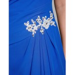Australia Formal Dress Evening Gowns Military Ball Dress Ocean Blue Plus Sizes Dresses Petite A-line Square Long Floor-length Chiffon Formal Dress Australia