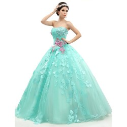 Australia Formal Dress Evening Gowns Jade Petite Ball Gown Strapless Long Floor Length Organza Tulle Charmeuse