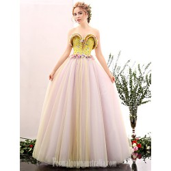 Australia Formal Dress Evening Gowns Multi Color A Line Sweetheart Long Floor Length Satin Tulle