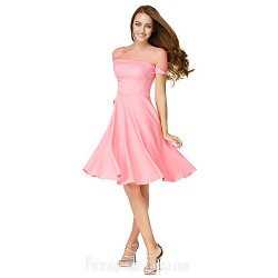 Australia Formal Dresses Cocktail Dress Party Dress Watermelon A-line Bateau Short Knee-length Jersey