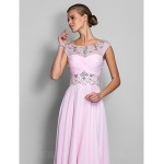 Prom Gowns Military Ball Australia Formal Dress Evening Gowns Blushing Pink Plus Sizes Dresses Petite A-line Scoop Long Floor-length Chiffon Formal Dress Australia