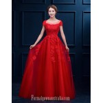 Australia Formal Dress Evening Gowns Ruby White A-line Scoop Long Floor-length Lace Dress Formal Dress Australia