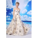 A-line Australia Formal Dress Evening Gowns Champagne Long Floor-length Sweetheart Organza Satin Formal Dress Australia