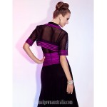 Australia Formal Dresses Cocktail Dress Party Dress Wedding Party Dress Grape Plus Sizes Dresses Petite A-line Princess V-neck Spaghetti Straps Tea-lengthTulle Stretch Formal Dress Australia