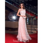 Australia Formal Evening Dress Prom Gowns Military Ball Dress Pearl Pink Plus Sizes Dresses Petite A-line Jewel Long Floor-length Tulle Dress Formal Dress Australia