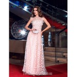 Australia Formal Dress Evening Gowns Prom Gowns Military Ball Dress Pearl Pink Plus Sizes Dresses Petite A-line Jewel Long Floor-length Tulle Dress Formal Dress Australia