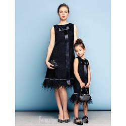 Australia Semi Formal Cocktail Dress Party Dress Black Plus Sizes Dresses Petite A-line Jewel Short Knee-length Cotton